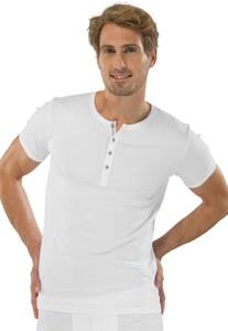 Schiesser Retro Rib Knopen Shirt Wit
