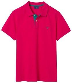 Gant Contrast Collar Piqué Rose Red