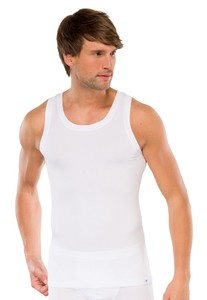 Schiesser Singlet Long Life Cotton Wit