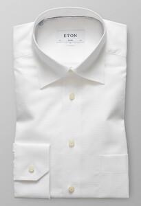 Eton Button Under Collar Wit