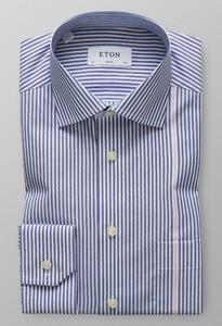 Eton Detail Stripe Cutaway Donker Blauw