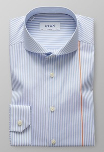 Eton Extreme Cutaway Single Contrast Licht Blauw