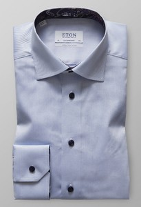 Eton Extra Long Sleeve Uni Licht Blauw