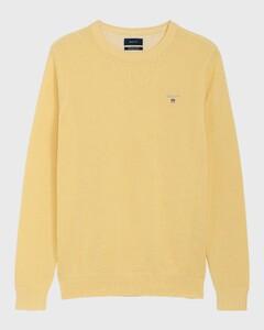 Gant Piqué Sweater Ronde Hals Lemon