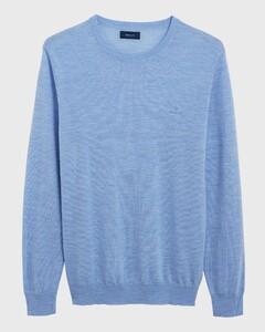 Gant Washable Merino C-Neck Light Blue Melange