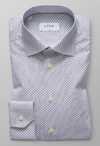 Eton Slim Micro Floral Navy