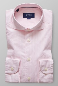 Eton Fine Line Lightweight Twill Roze