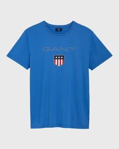 Gant Gant Shield T-Shirt Midden Blauw