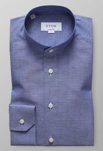 Eton Mini Contrast Poplin Donker Blauw