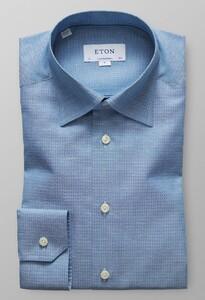 Eton Button Under Subtle Contrast Donker Groen