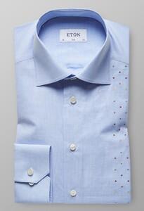 Eton Micro Multicolor Check Licht Blauw