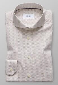 Eton Micro Pattern Fantasy Diep Bruin