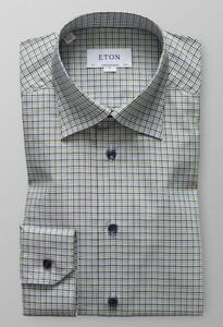 Eton Button Under Fine Twill Pastel Groen
