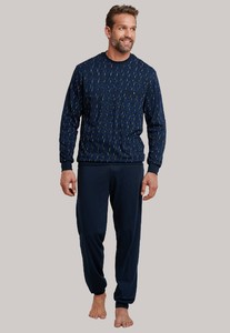 Schiesser Original Classics Pyjama Donker Blauw