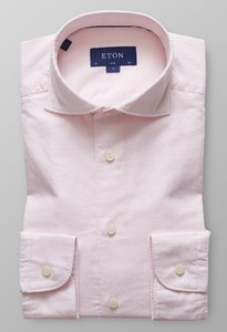 Eton Fine Twill Mini Check Roze