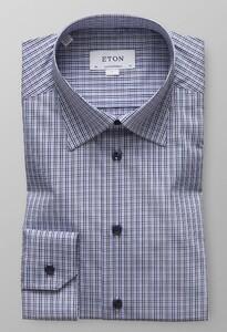 Eton Button Under Fine Twill Paars