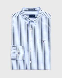 Gant The Broadcloth 3 Color Stripe College Blue