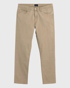 Gant Slim Straight Dusty Twill Jeans Donker Khaki