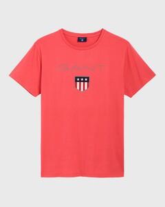 Gant Gant Shield T-Shirt Watermeloen Rood
