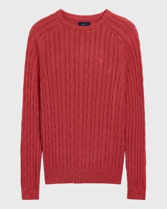 Gant Sunbleached Cable Crew Cardinal Red