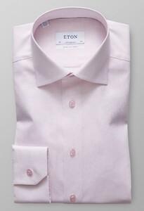 Eton Twill Contrast Extra Mouwlengte 7 Roze
