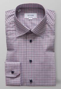 Eton Button Under Fine Twill Warm Roze