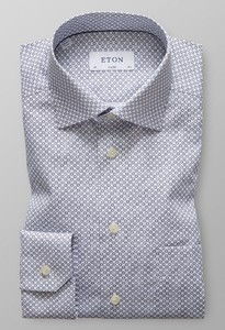 Eton Classic Micro Floral Navy