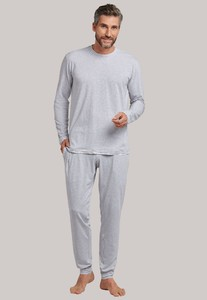 Schiesser Lights on Blue Pyjama Grijs