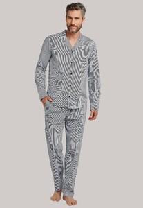 Schiesser Lights on Blue Pyjama Donker Blauw