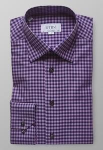 Eton Button Under Signature Twill Warm Roze