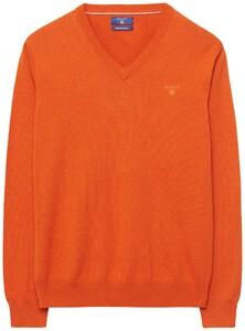 Gant Cotton V-Neck Oranje Melange