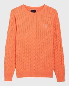 Gant Cotton Cable Crew Oranje Melange
