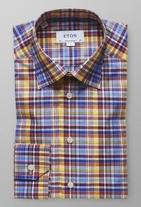 Eton Fine Twill Check Multicolor