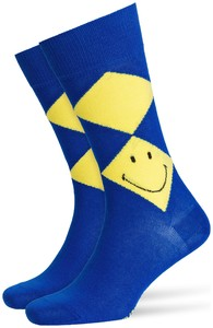 Burlington Smiley Argyle Diep Blauw