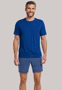 Schiesser Long Life Soft Pyjama Royal Blue