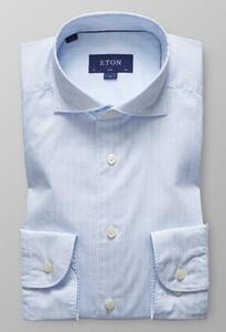 Eton Slim Fine Line Extreme Cutaway Licht Blauw