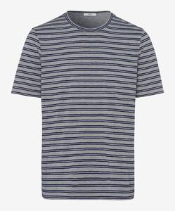 Brax Troy Striped Shirt Ocean