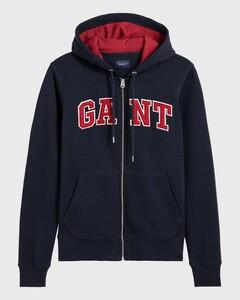 Gant Graphic Full Zip Hoodie Avond Blauw
