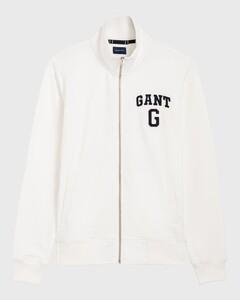 Gant Graphic Full Zip Cardigan Eggshell