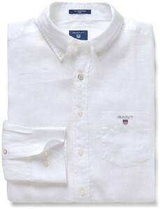 Gant The Slim Linen Shirt Wit