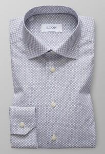 Eton Versatile Micro Floral Navy