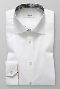 Eton Uni Floral Detail Wit