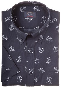 Paul & Shark Anchor Shark Shirt Navy