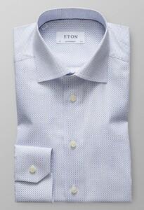 Eton Versatile Micro Pattern Diep Blauw