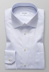 Eton Classic Micro Floral Pastel Blauw