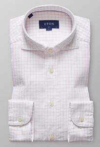 Eton Slim Check Royal Oxford Roze
