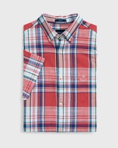 Gant Madras Classic Check Short Sleeve Cardinal Red