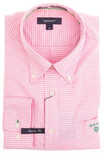 Gant Bel Air Pinpoint Oxford Gingham Roze