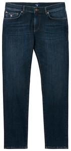 Gant Slim Straight Jeans Dark Blue Worn In