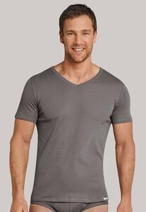 Schiesser Long Life Cool V-Neck Shirt Taupe